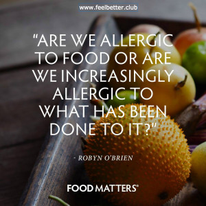 Are we allergic to food or what's done to it