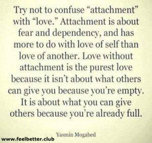 Attachment and love