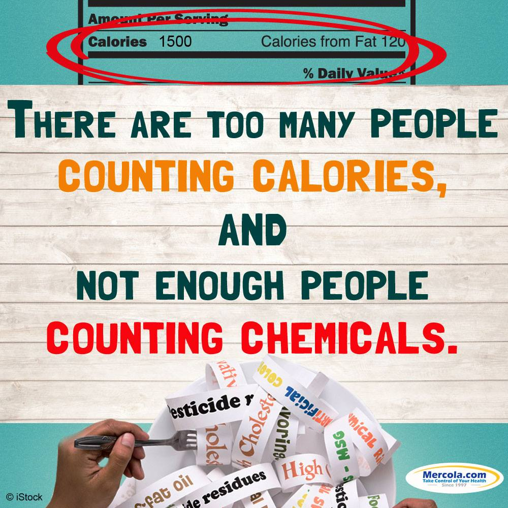Counting calories not chemicals