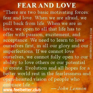 Fear and Love (John Lennon)