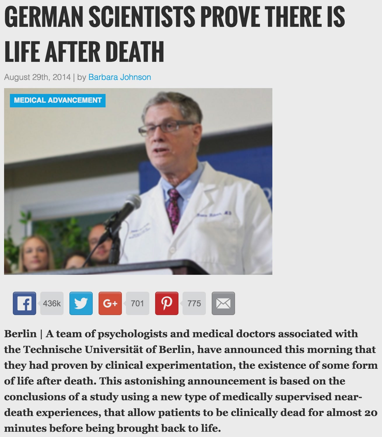 German Scientists Prove There's Life After Death