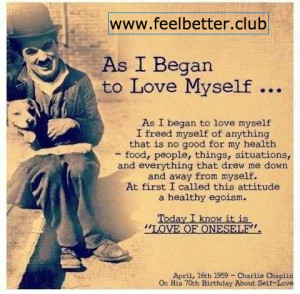 Self love by Charlie Chaplin