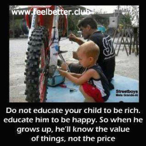 Teach kids value