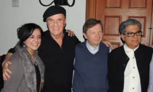 Wayne with Anita, Eckhart Tolle and Deepak Chopra